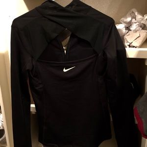 Nike Pro Quarter Zip Open Back - NEW W/ TAGS